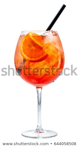 Vidro longo bebidas laranjas tabela água Foto stock © samsem