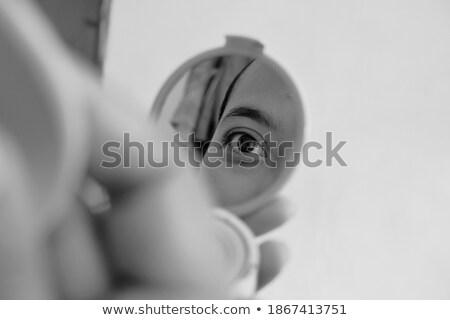 woman eye captured in the mirror Stock photo © Taiga