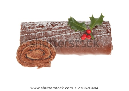 isolated yule log Stock photo © M-studio