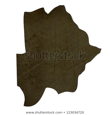 Dark silhouetted map of Botswana Stock photo © speedfighter
