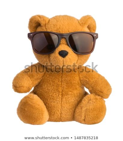 Colorido ursinho de pelúcia sol óculos provérbio olá Foto stock © jaymudaliar