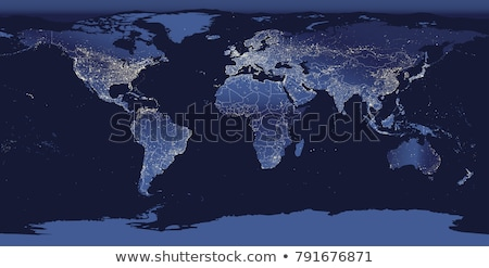 North, South America, Europe, Africa Global World in Space Stock photo © fenton
