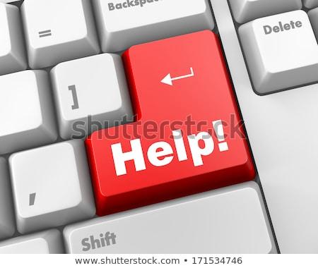Sos chave negócio trabalhar teclado Foto stock © franky242