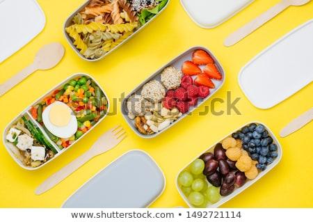 健康 ランチタイム 12 クロック パン フルーツ ストックフォト © compuinfoto