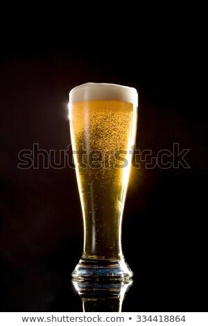Beer on black background Stock photo © phila54