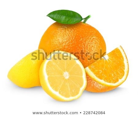 Oranje citroen donkere voedsel ontwerp vruchten Stockfoto © Quka