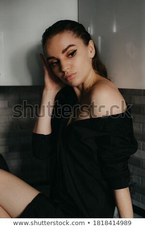Elbűvölő közelkép női portré divat este Stock fotó © Victoria_Andreas