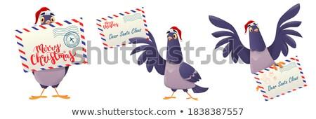 синий · птица · бумаги · конверт · иллюстрация · природы - Сток-фото © kotenko