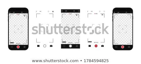Uygulaması dizayn cep telefonu kamera ikon vektör Stok fotoğraf © ikopylov