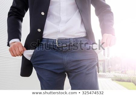 бизнесмен пусто человека костюм черный человек Сток-фото © dacasdo