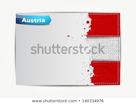 Austria · bandera · blanco · resumen · fondo · signo - foto stock © maxmitzu