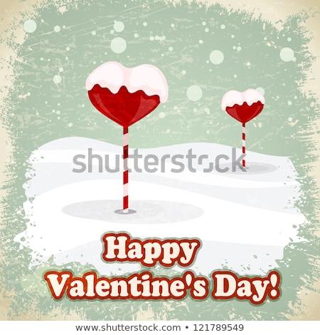 sevimli · kalp · şekerleme · sevgililer · günü · kart · dizayn - stok fotoğraf © larser