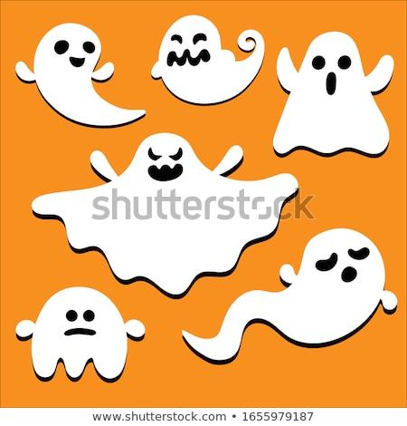 Сток-фото: дружественный · Ghost · улыбаясь · цвета · нижний