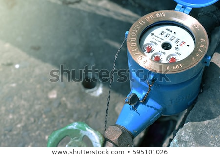 colorful water meter and valve  Stock photo © Bunwit