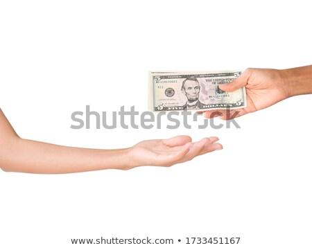 Mano cinco dinero compras banco Foto stock © chrisdorney