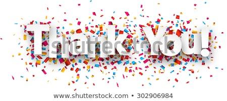 Dank u Rood 3d tekst geïsoleerd witte business Stockfoto © tashatuvango