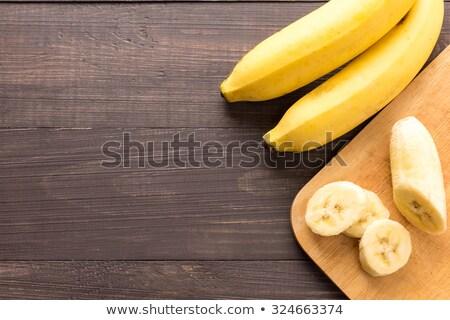 banaan · houten · tafel · huid · tropische · Geel · vers - stockfoto © Bunwit