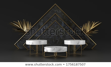 Golden cubes background with white copy space. Stock photo © lenapix