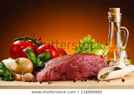 warzyw · kebab · wiosną · ogród · grill · pomidorki - zdjęcia stock © m-studio