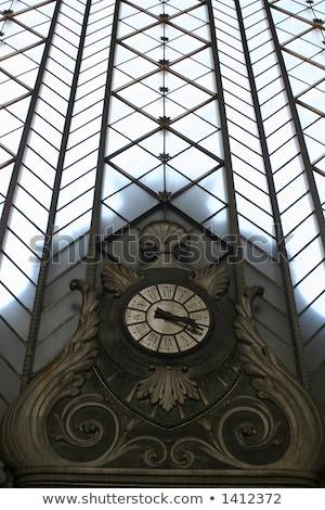 Vintage clock in Atocha Station, Madrid Stock photo © Bertl123