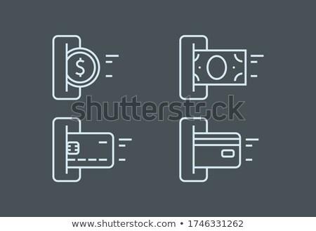 Lezer details internet bancaire business groene Stockfoto © manfredxy