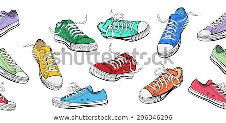 green sneakers with white laces Stock photo © RuslanOmega