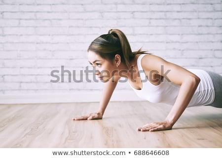 asian woman push stock photo © elwynn
