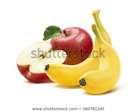maduro · amarelo · bananas · branco · isolado · comida - foto stock © vavlt
