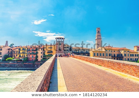 Adige River Embankment in Verona, Veneto, Italy Stock photo © anshar