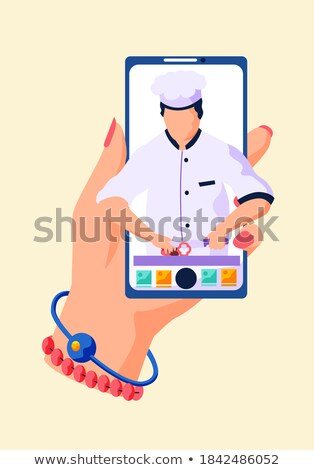 menu screen shows ordering food from restaurant online stock photo © stuartmiles