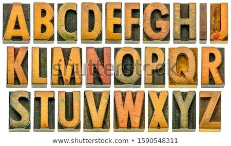 Ahşap mektup i yalıtılmış vermek beyaz ofis Stok fotoğraf © cherezoff
