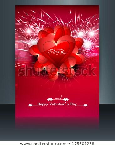 Cartão dia dos namorados folheto modelo reflexão colorido Foto stock © bharat