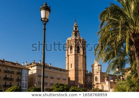 Valencia LA katedrális Spanyolország fa épület Stock fotó © lunamarina