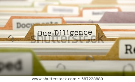 Folder with the label Due Diligence Stock photo © Zerbor
