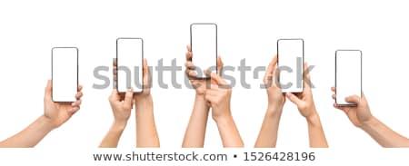 набор рук мобильных стороны Сток-фото © czaroot