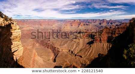 Foto stock: Colorful Sunset At Grand Canyon Seen From Mathers Point South R