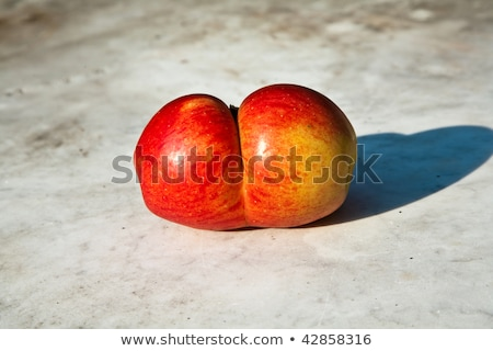 fresh apples with interesting deformations in beautiful light  Stock photo © meinzahn