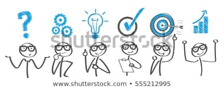 Brainstorming Businessman Stock photo © Lightsource
