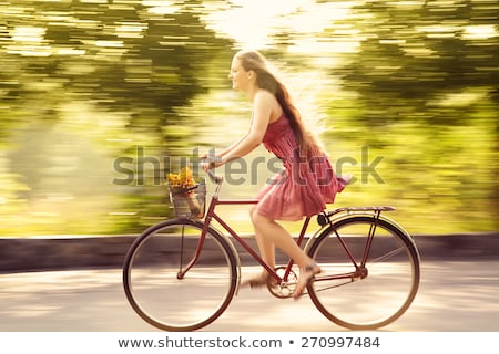Zdjęcia stock: Ruchu · zamazany · rower · drogowego · charakter · fitness
