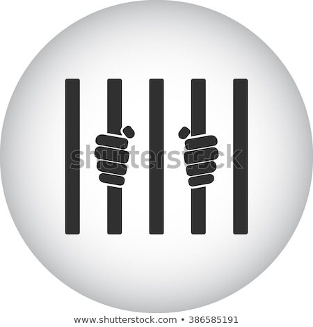 Prisoner behind bars - criminal in jail, simple icon Stock photo © Winner