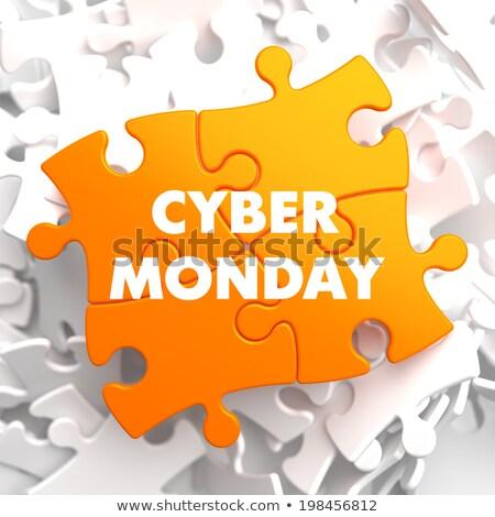 Cyber Monday on Yellow Puzzle. Stock photo © tashatuvango