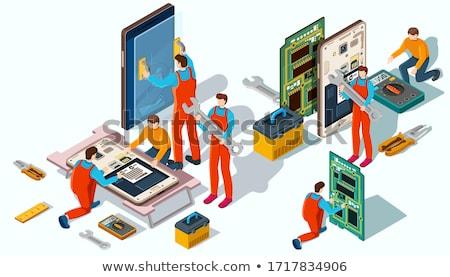 Eletrônica reparar manutenção eletrônico dispositivos informática Foto stock © OleksandrO