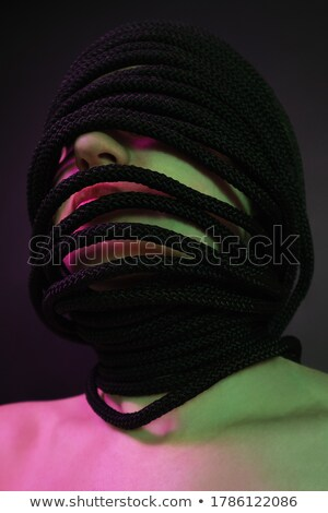 Creative Concept. Styled Futuristic Woman with Fantastic Headwear Stock photo © gromovataya