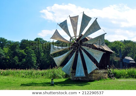 sibiu ethno museum wind mill Stock photo © tony4urban