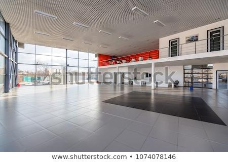 Sala de exposição branco parede vazio nicho exposição Foto stock © timurock