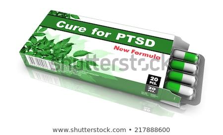 治す パック 錠剤 緑 オープン ブリスター ストックフォト © tashatuvango