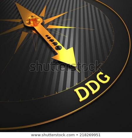 DDG - Business Background. Golden Compass Needle. Stock photo © tashatuvango