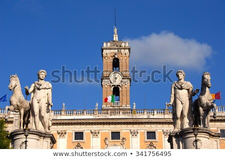 Bell tower at the Capitoline Hill in Rome, Italy Stock photo © Dserra1