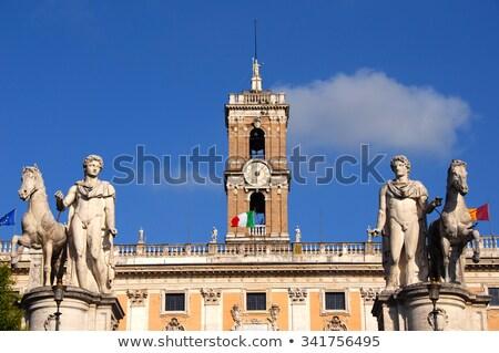 tér · Róma · Olaszország · bejárat · lépcsősor · napfelkelte - stock fotó © dserra1