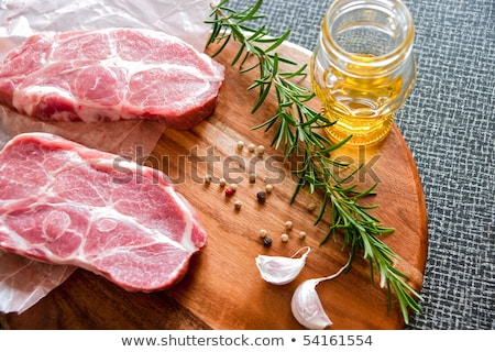 Twee gemarineerd olie knoflook grill Stockfoto © juniart